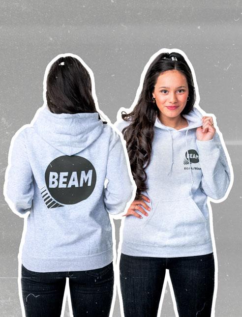 Hoodie Navy Blue Gratis bij een gift voor BEAM